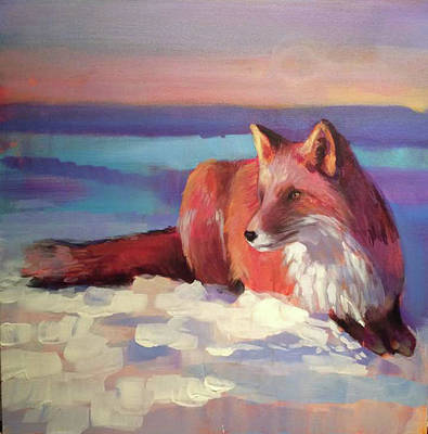 Painting - Fox II by Susan Bradbury