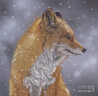 Pastel - Fox In A Flurry by Karie-Ann Cooper