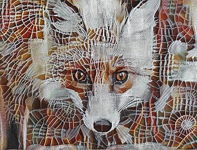 Fox Digital Art - Fox In Cloth Net by Yury Malkov