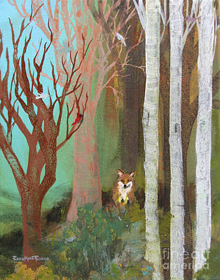Painting - Fox In The Forest  by Robin Maria Pedrero