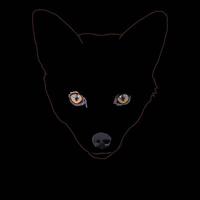 Danger Digital Art - Fox In The Shadows by David Smith