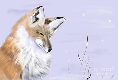 Fox In Yellowstone Art Print