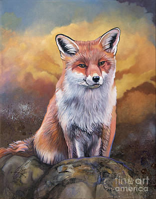 Painting - Fox Knows by J W Baker