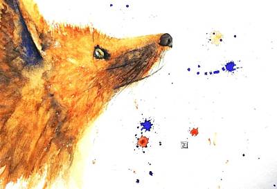 Painting - Fox - Look To The Moon by Ruth Trinczek