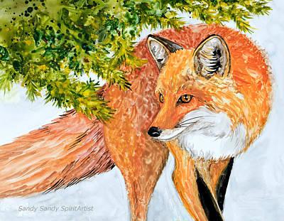 Painting - Fox Medicine by Sandy Sandy