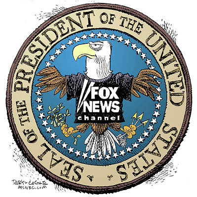 Drawing - Fox News Presidential Seal by Daryl Cagle