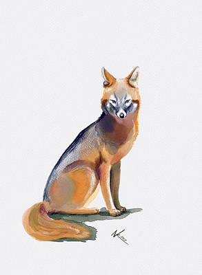 Digital Art - Fox by Norman Klein