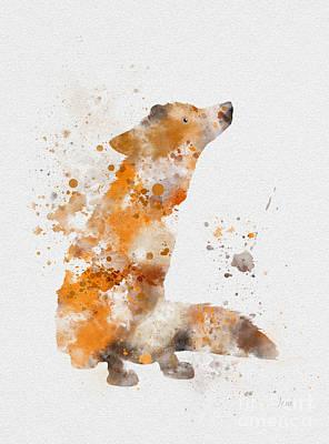 Fox Mixed Media - Fox by Rebecca Jenkins