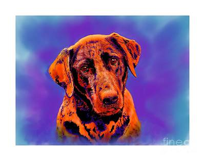Digital Art - Fox Red Labrador Painting IIi by Dale E Jackson