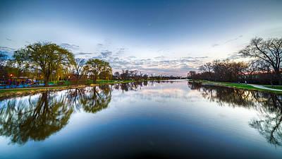 Photograph - Fox River At Dusk by Randy Scherkenbach