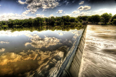 Photograph - Fox River At The Geneva Dam by Roger Passman