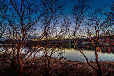 Photograph - Fox River Blue Hour by Randy Scherkenbach