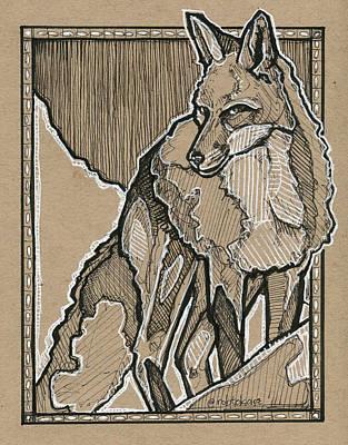 Fox Drawing - Fox by Rob Tokarz