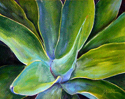 Agave Painting - Fox Tail Agave 2 by Athena  Mantle