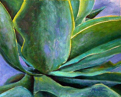Aloe Painting - Fox Tail Agave 3 by Athena  Mantle