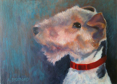 Wall Art - Painting - Fox Terrier by Alison Stafford