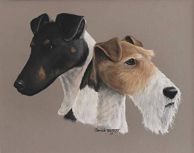 Wire Fox Terrier Painting - Fox Terrier by Daniele Trottier