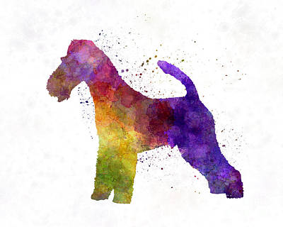 Fox Terrier In Watercolor Art Print by Pablo Romero