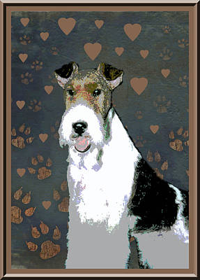 Fox Terrier Wire Art Print by One Rude Dawg Orcutt