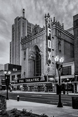 Photograph - Fox Theater St Louis Mo Black And White_dsc0113_16 by Greg Kluempers
