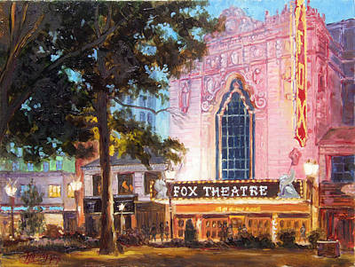 Fox Theatre In St.louis Art Print