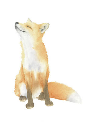 Painting - Fox Watercolor by Zapista