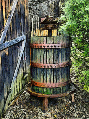Photograph - Foxen Winery Wine Press Abstract by Floyd Snyder