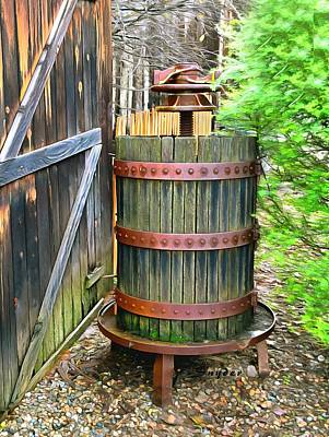 Photograph - Foxen Winery Wine Press by Floyd Snyder