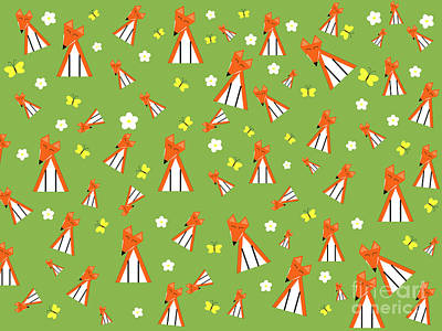 Fox Digital Art - Foxes In Spring by Kourai