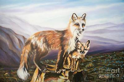 Painting - Foxes   Fundamental Foresight Foundation  by Sigrid Tune