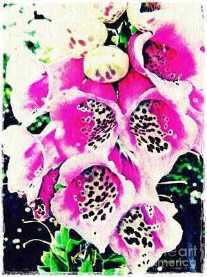 Foxglove Flowers Photograph - Foxglove 2 by Sarah Loft