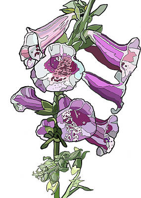 Painting - Foxglove by Jamie Downs