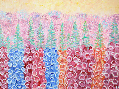 Painting - Foxgloves by Elizabeth Lock