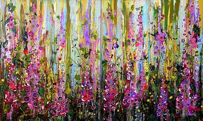 Painting - Foxgloves Large Painting by Angie Wright
