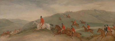 Painting - Foxhunting - Road Riders Or Funkers by Richard Barrett Davis