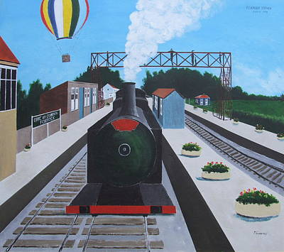 Foxrock Railway Station Art Print by Tony Gunning
