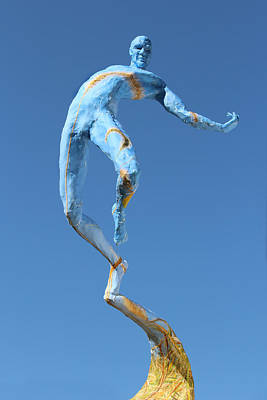 Male Sculpture - Foxtails In The Breeze Photographed Outside by Adam Long