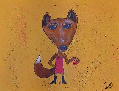 Art Print featuring the painting Foxxxy by Tatum Chestnut