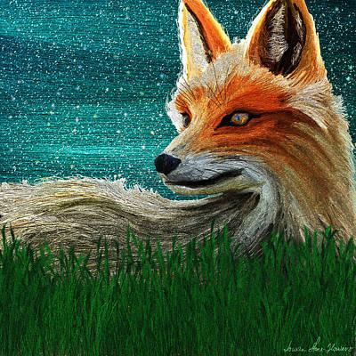 Digital Art - Foxxy by Iowan Stone-Flowers