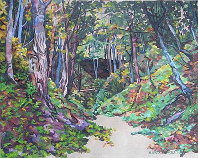 Painting - Foxy Canyon Fall by Nel Kwiatkowska