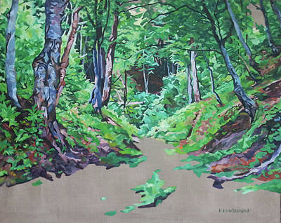 Painting - Foxy Canyon Spring by Nel Kwiatkowska