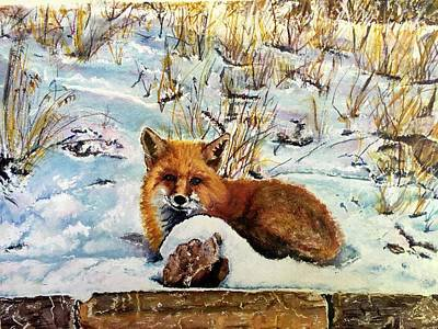 Painting - Foxy by Carol Warner