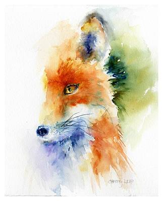Foxy Impression Art Print by Christy Lemp