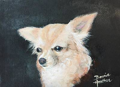 Art Print featuring the painting Foxy Lady  by Bonnie Heather