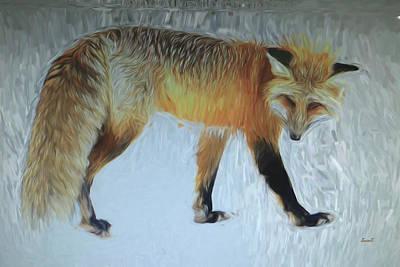 Digital Art - Foxy Lady  by Dennis Baswell