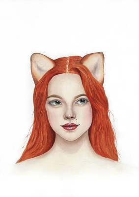 Painting - Foxy Lady by Zapista