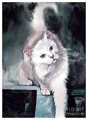 Kittens Wall Art - Painting - Foxy Lady by Suzann's Art
