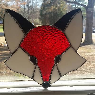 Glass Art - Foxy by Liz Lowder
