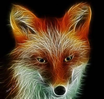 Fox Digital Art - Foxy by Madeline  Allen - SmudgeArt