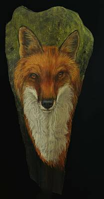 Painting - Foxy by Nancy Lauby